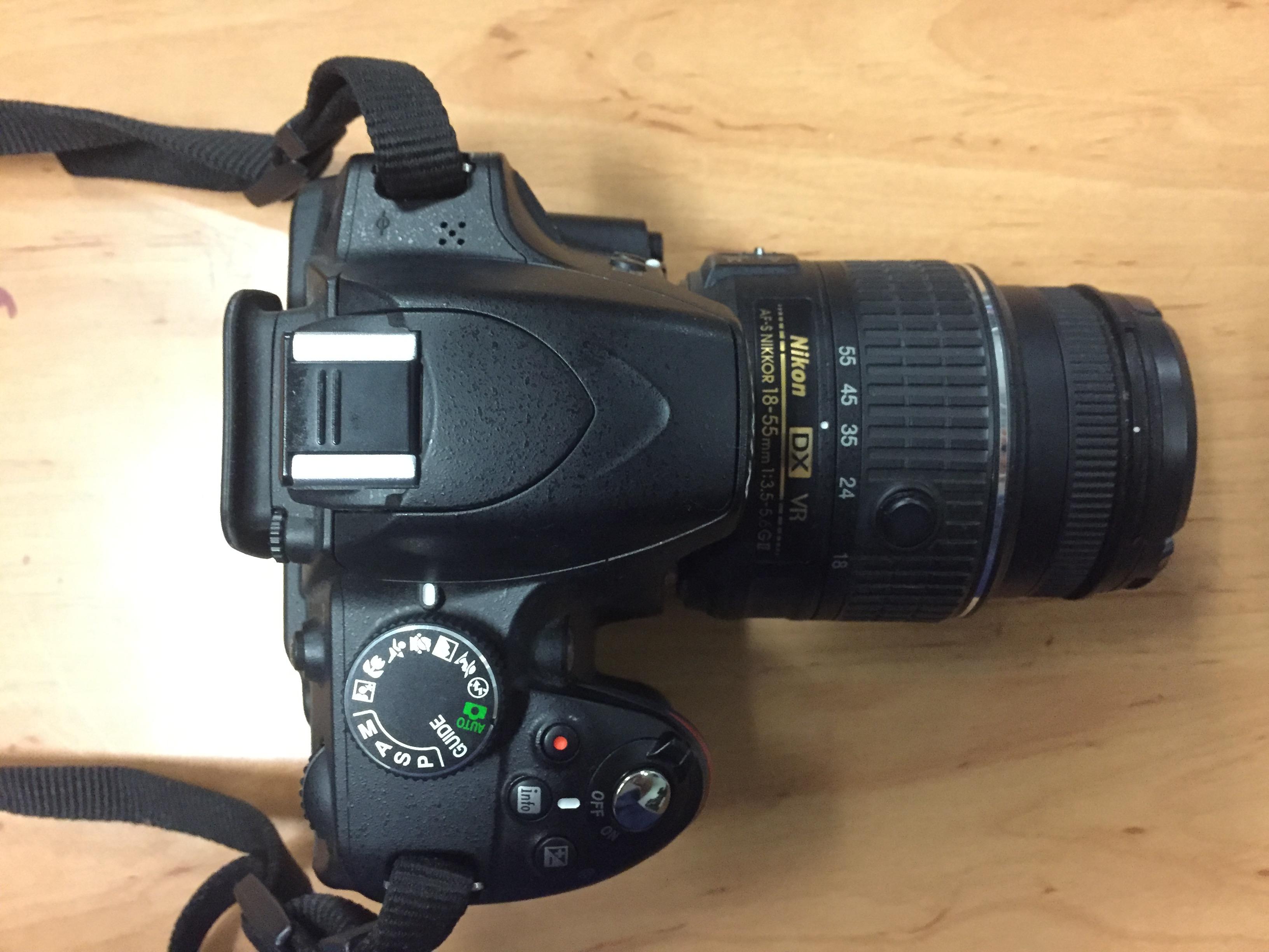 Chwalebne Lustrzanka NIKON D3200 +obiektyw Nikon Nikkor DX VR AF-S 18-55 QW58