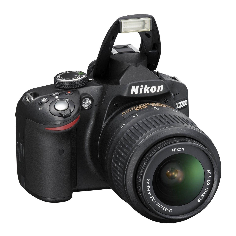 W superbly Lustrzanka NIKON D3200 +obiektyw Nikon Nikkor DX VR AF-S 18-55 QS44